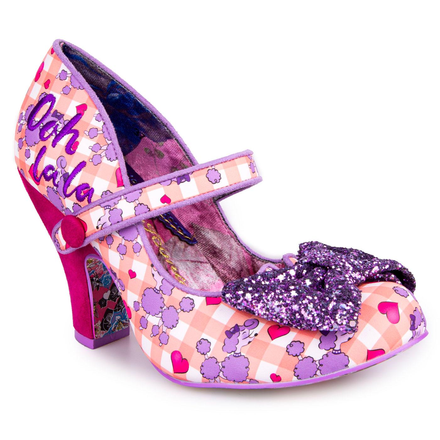 Fancy That IRREGULAR CHOICE Gingham Poodle Heels L