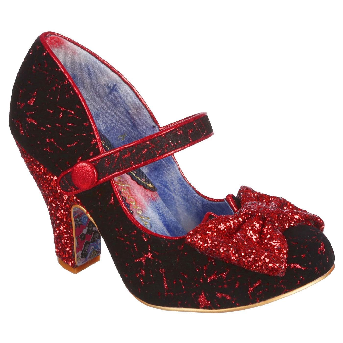Fancy That IRREGULAR CHOICE Glitter Heels RED