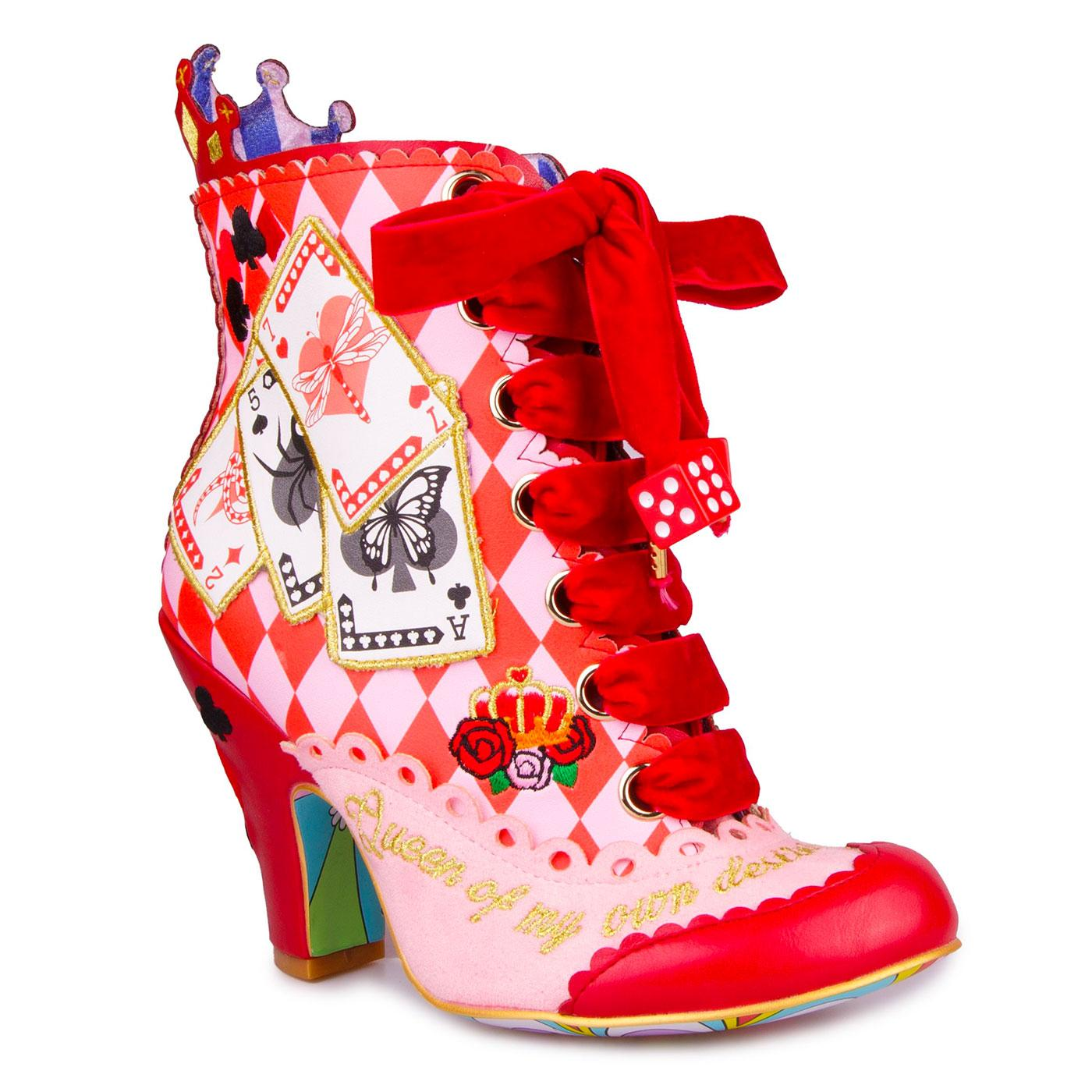 Full House IRREGULAR CHOICE Retro Boots in Red