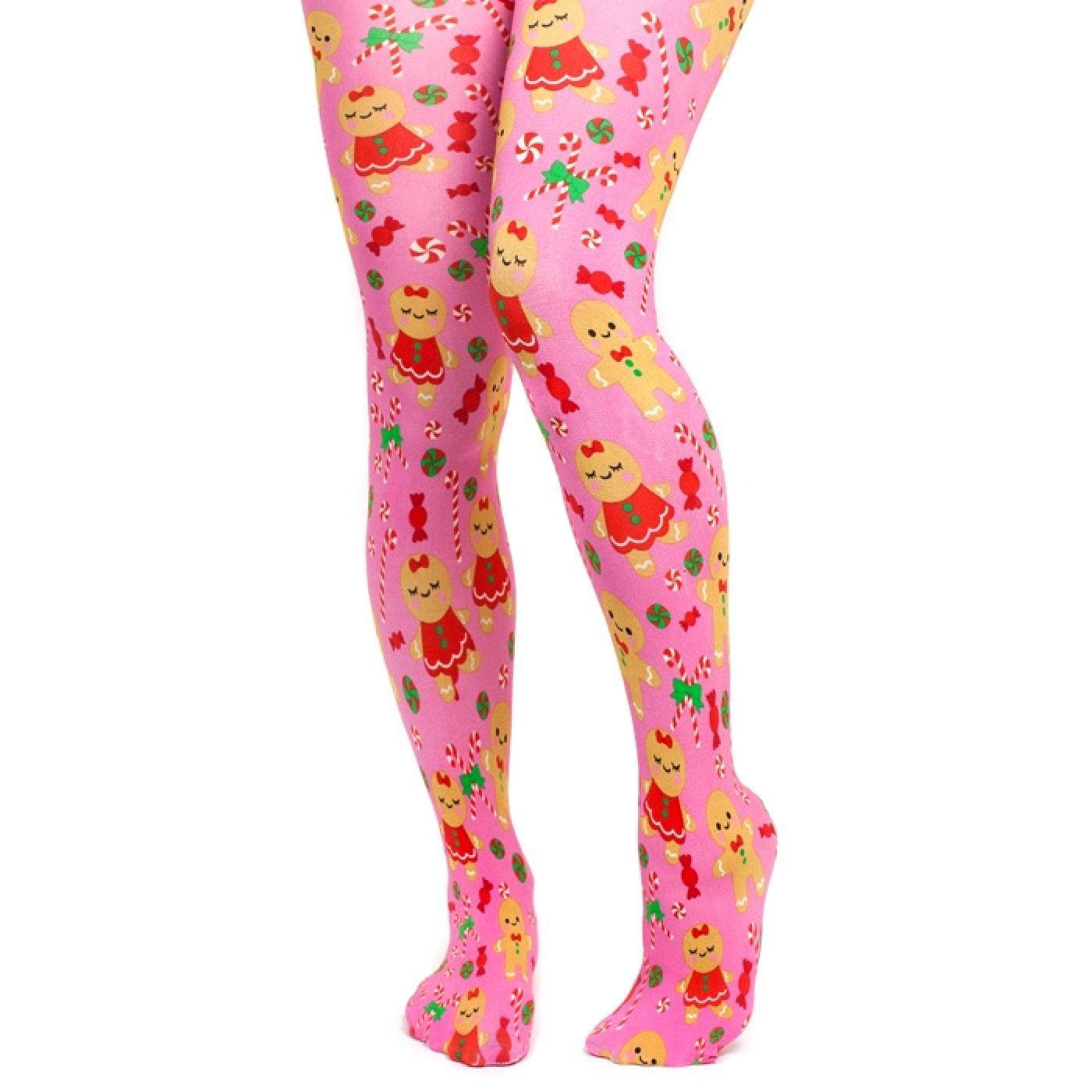 Gingerbread People IRREGULAR CHOICE Tights Pink