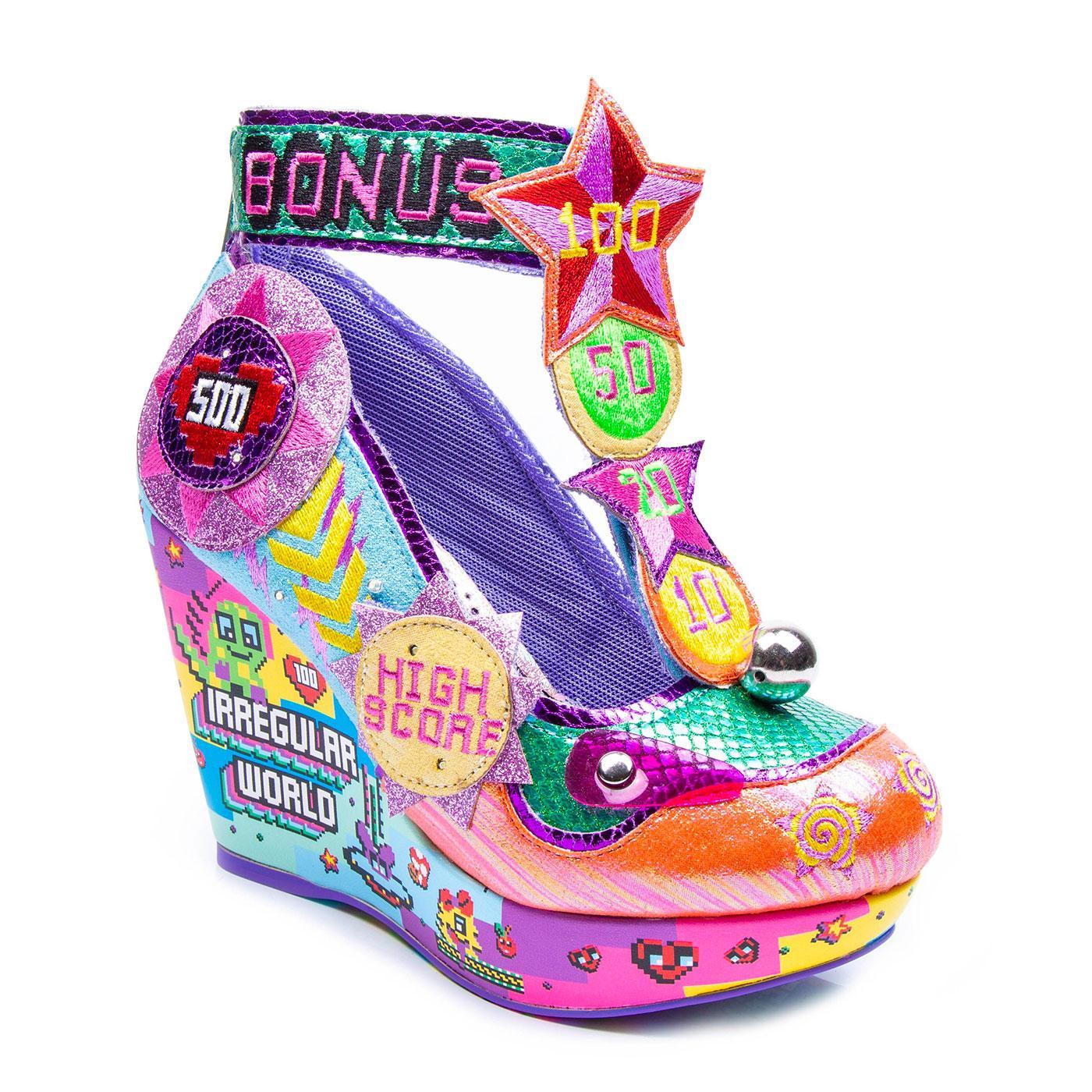 High Score IRREGULAR CHOICE Pinball Wedge Shoes