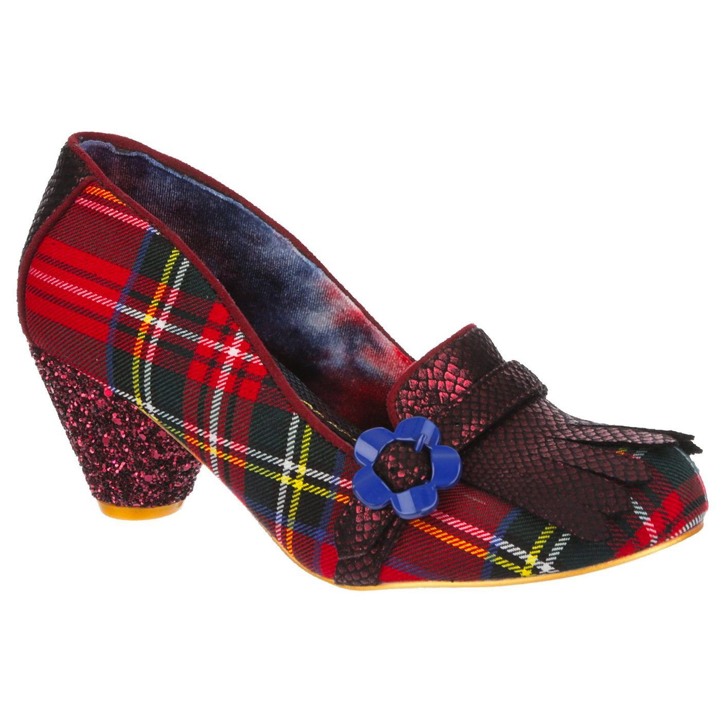 Highland Haven IRREGULAR CHOICE Red Tartan Heels
