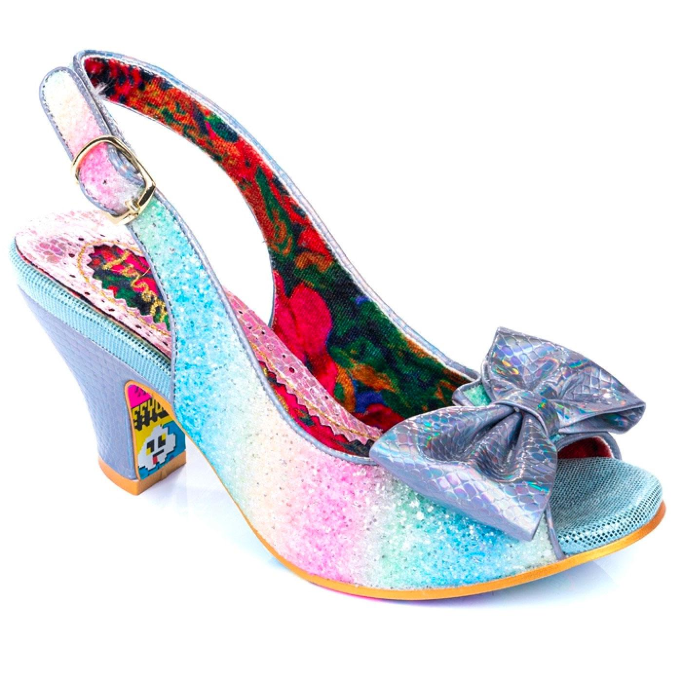 Hiya Synth IRREGULAR CHOICE Rainbow Heels BLUE