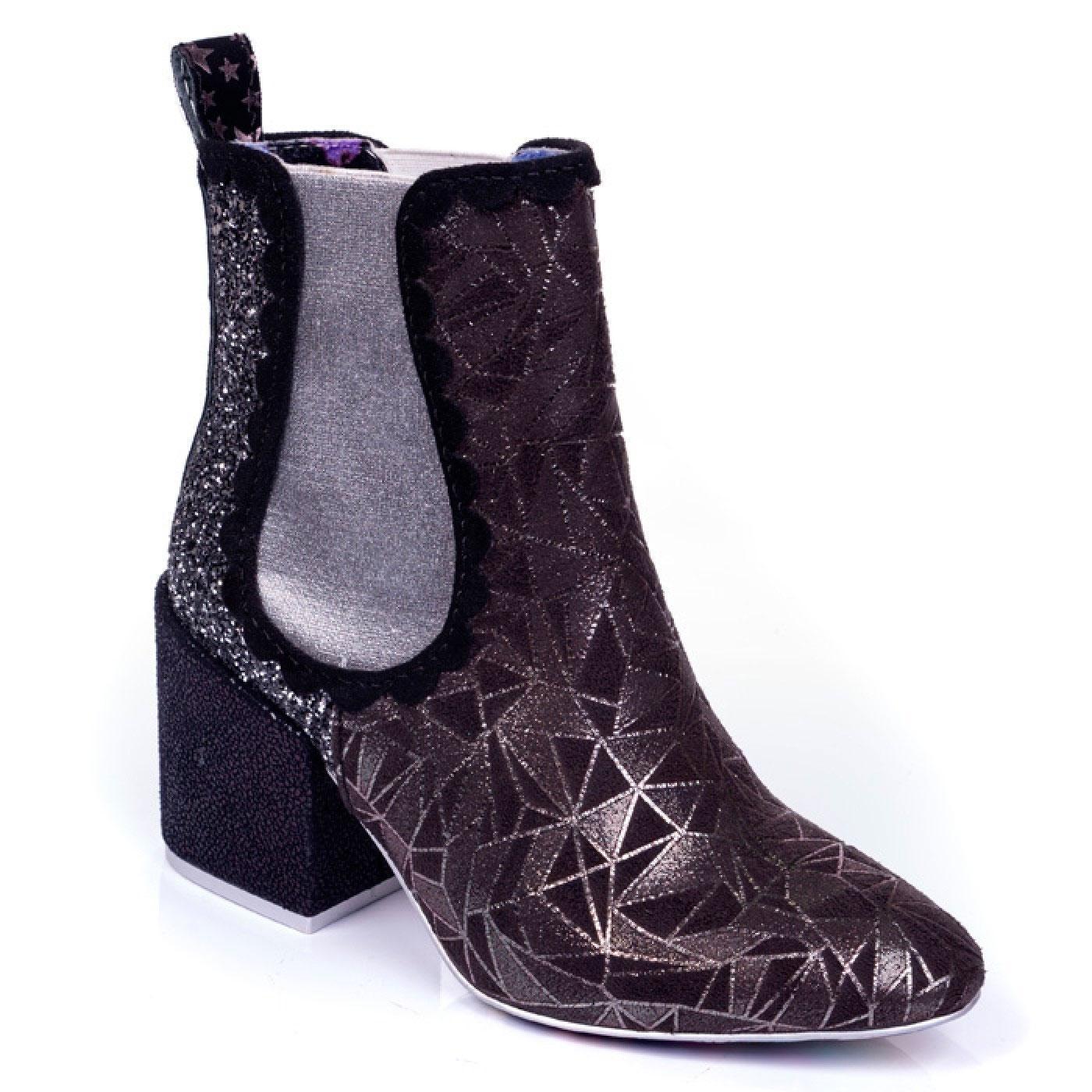 Kings Road IRREGULAR CHOICE Glitter Chelsea Boots