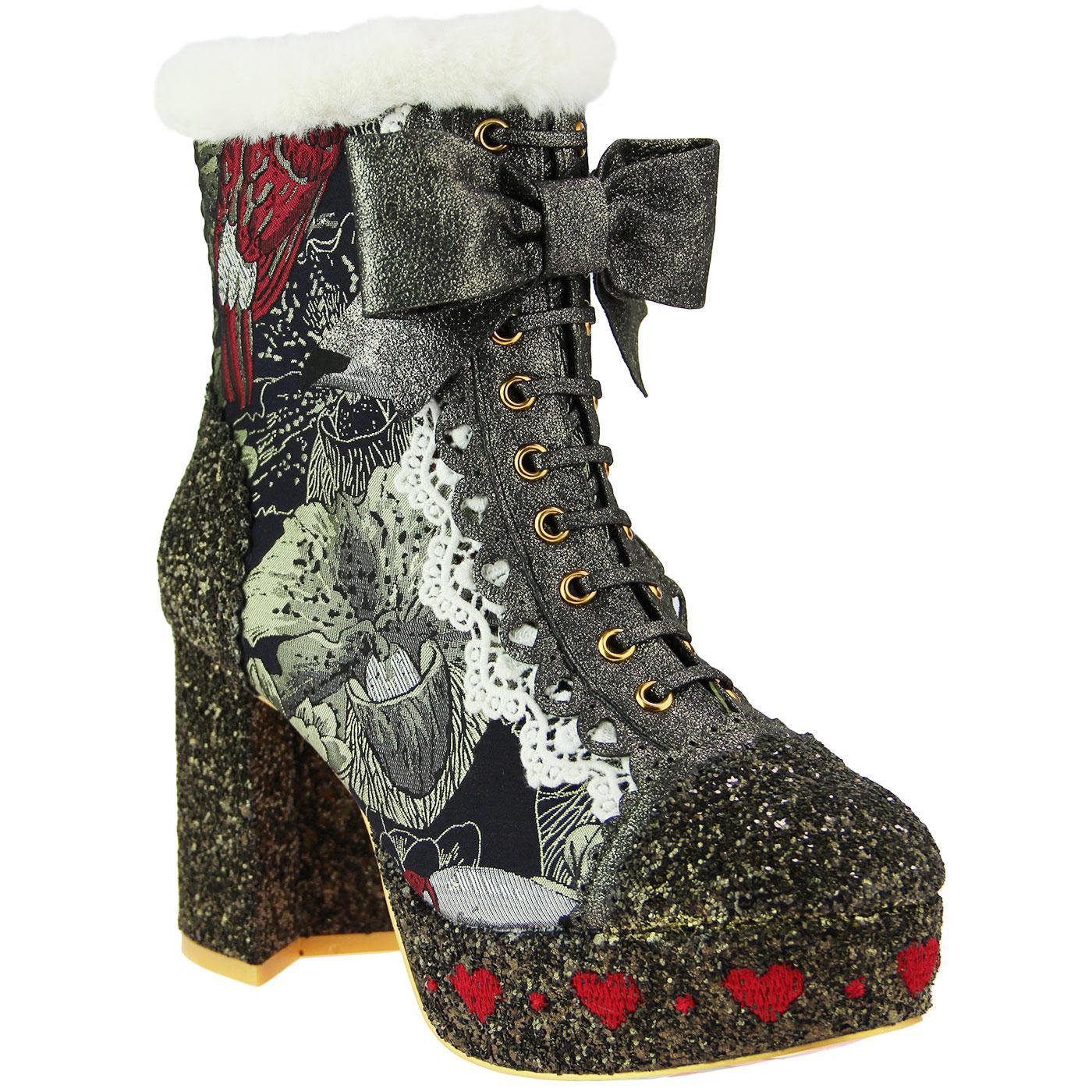 Let It Be IRREGULAR CHOICE Retro Platform Boots M