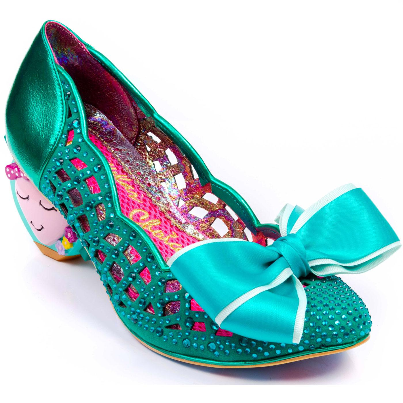 Liefde IRREGULAR CHOICE Cut Out Heart Heels Green