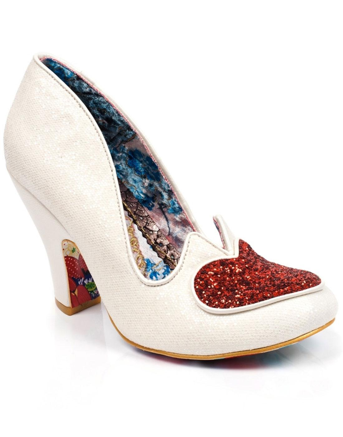 Love Me Not IRREGULAR CHOICE Heart Heels in White