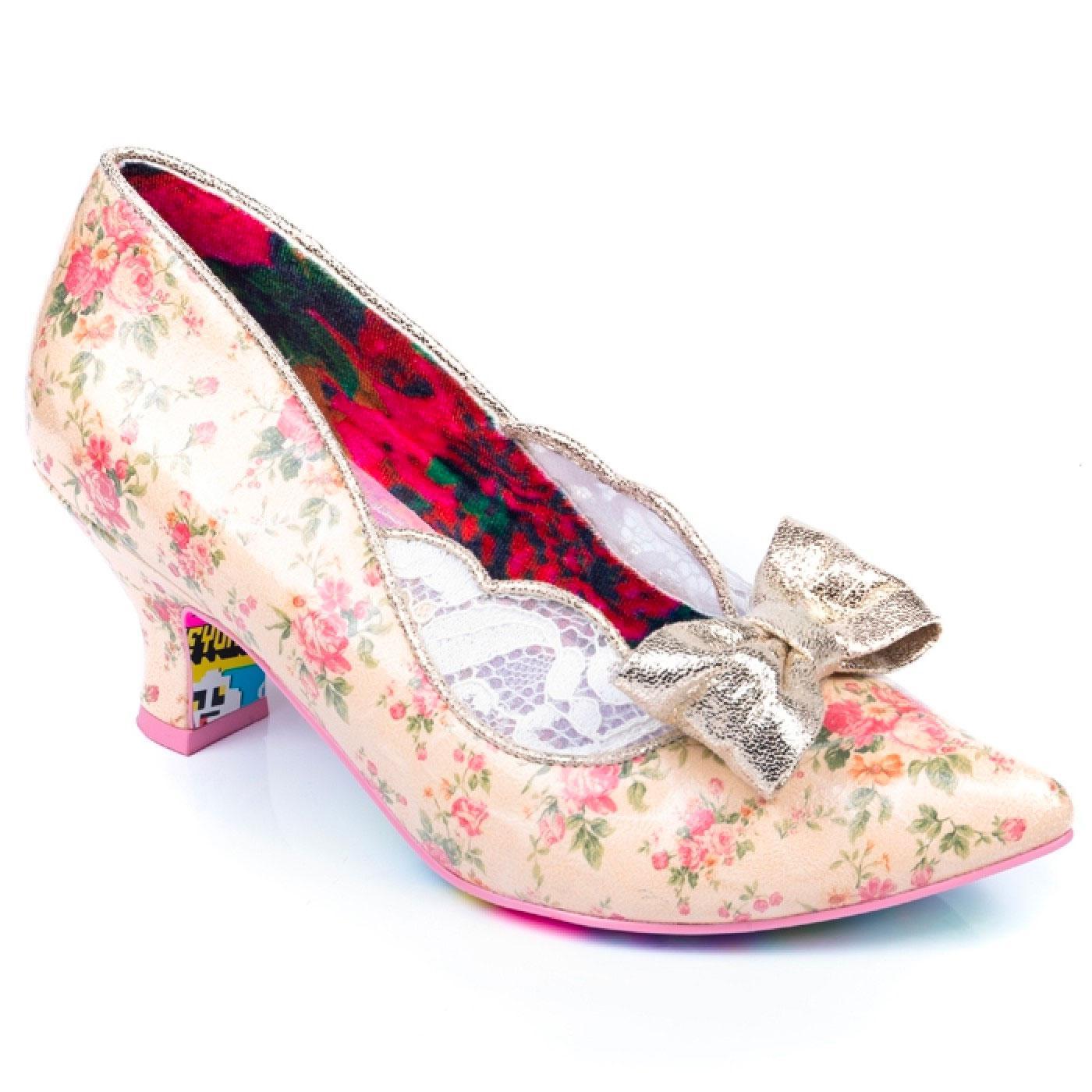 Marma Ladies IRREGULAR CHOICE Vintage Floral Heels