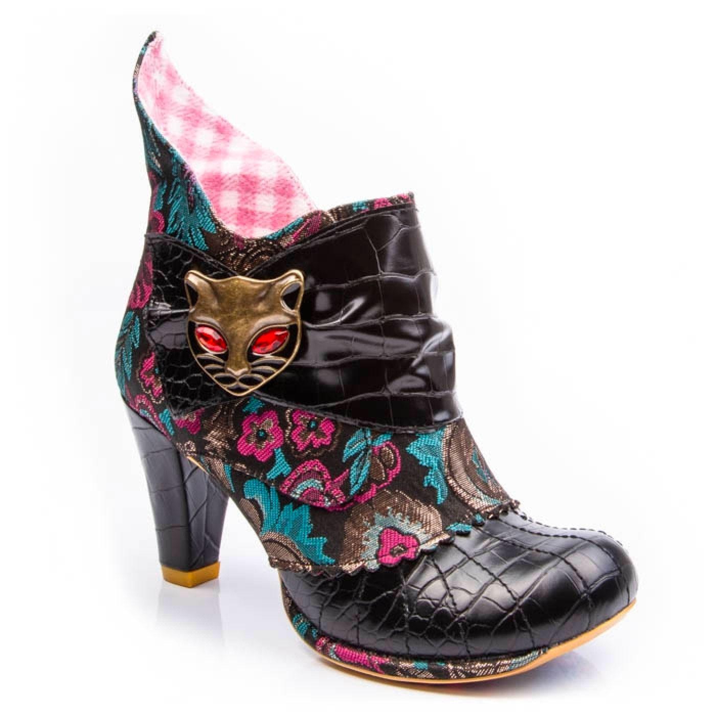 Miaow IRREGULAR CHOICE Retro Floral Cat Boots