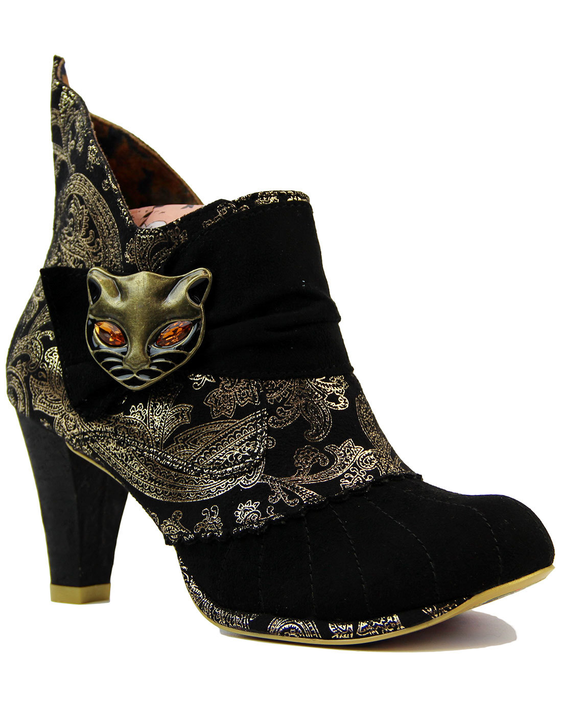 Famous Footwear Tracking >> IRREGULAR CHOICE Miaow Retro 60s Mod Paisley Cat Boots in Black