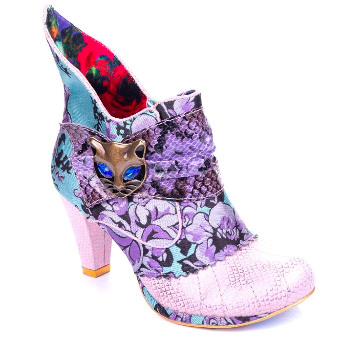 Miaow IRREGULAR CHOICE Retro 60's Floral Boots B/P