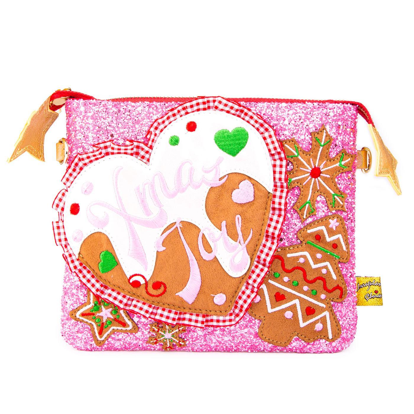 Milk & Cookies IRREGULAR CHOICE Xmas Clutch Bag