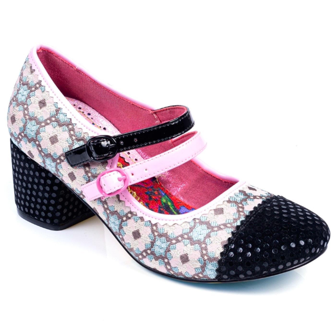 Mini Mod IRREGULAR CHOICE Floral 60s Heels PINK