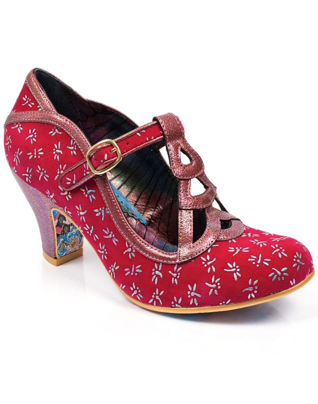 Nicely Done IRREGULAR CHOICE Dragonfly Heels Pink