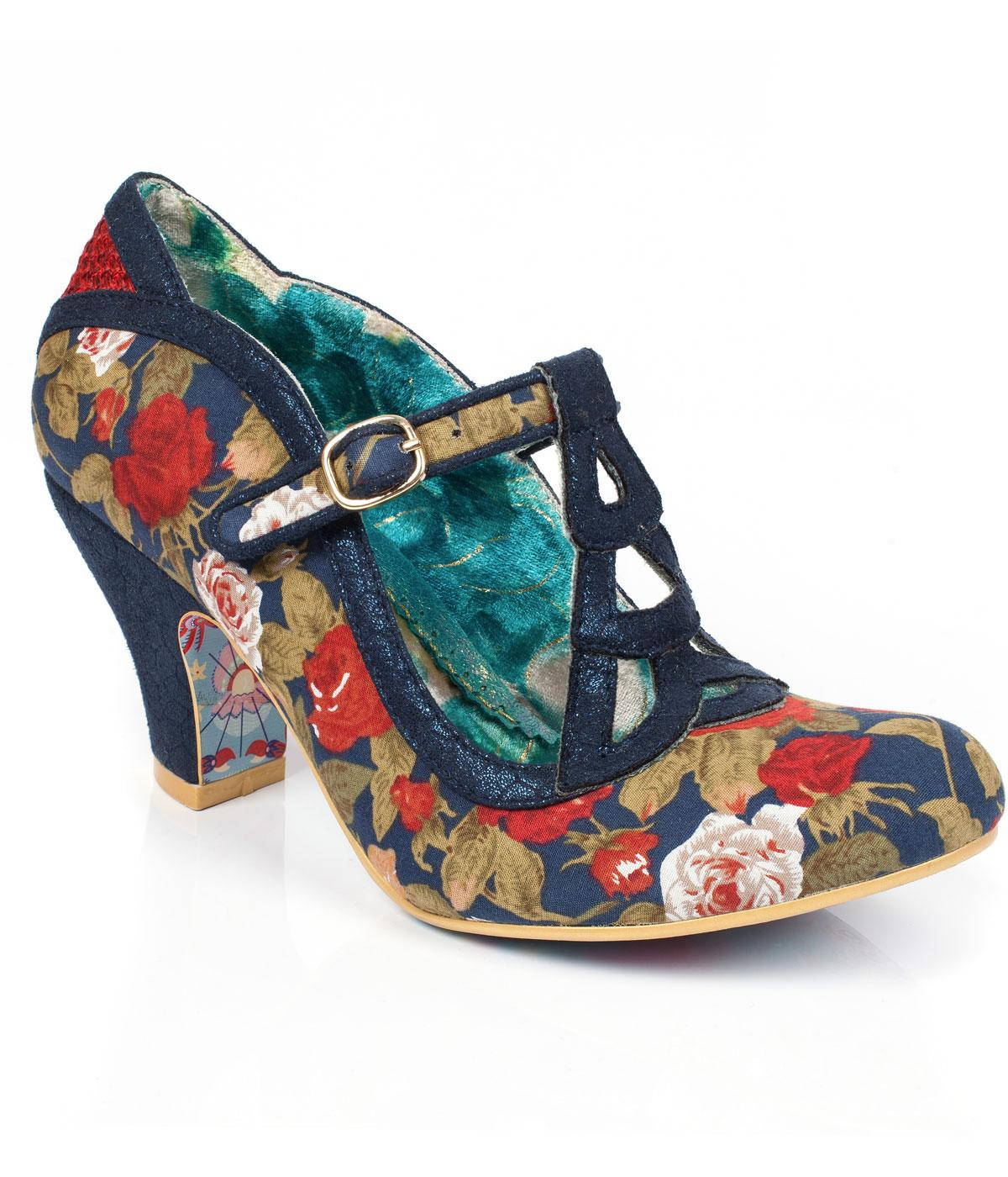 Nicely Done IRREGULAR CHOICE Retro Floral Heels