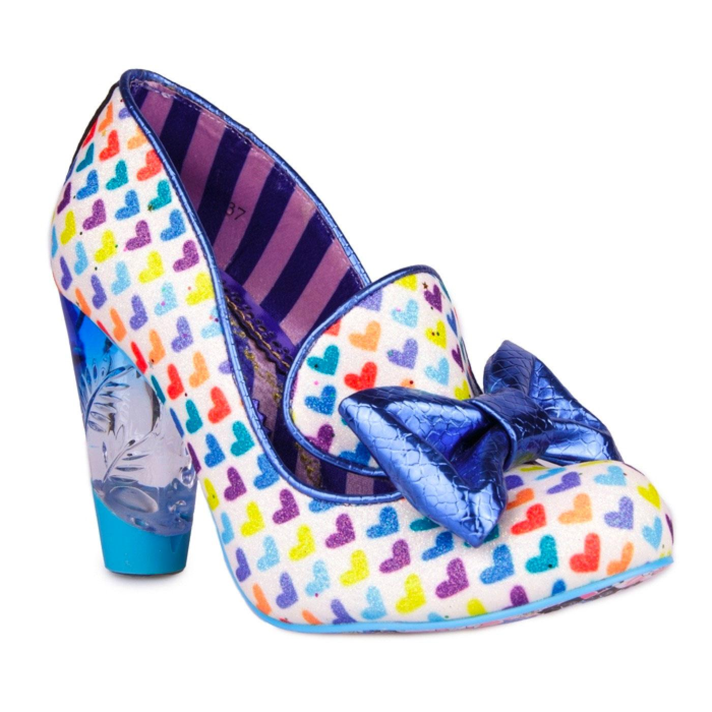 Ozzo IRREGULAR CHOICE Rainbow Love Heart Heels