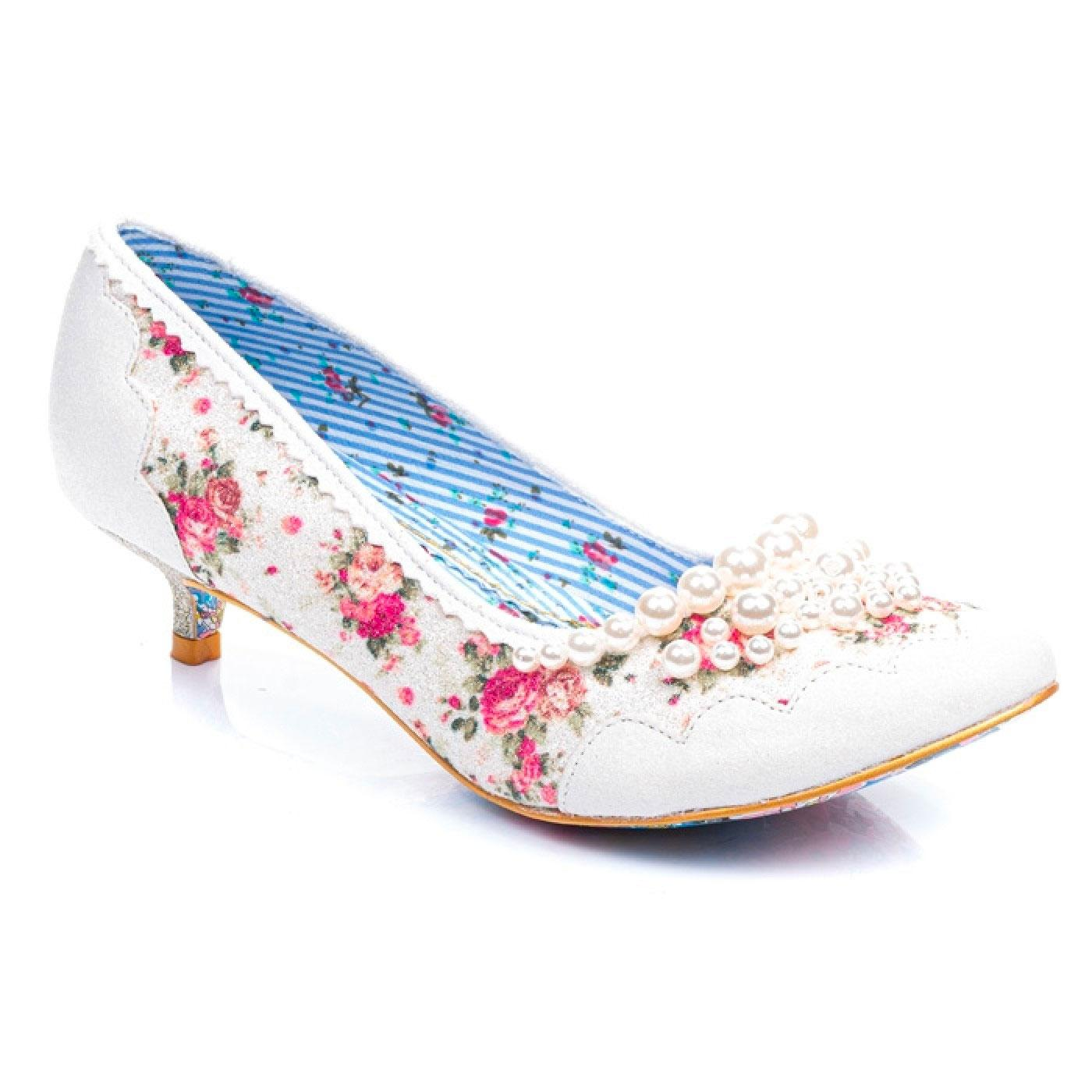 Pearly Girl Low IRREGULAR CHOICE Floral Pearl Heel