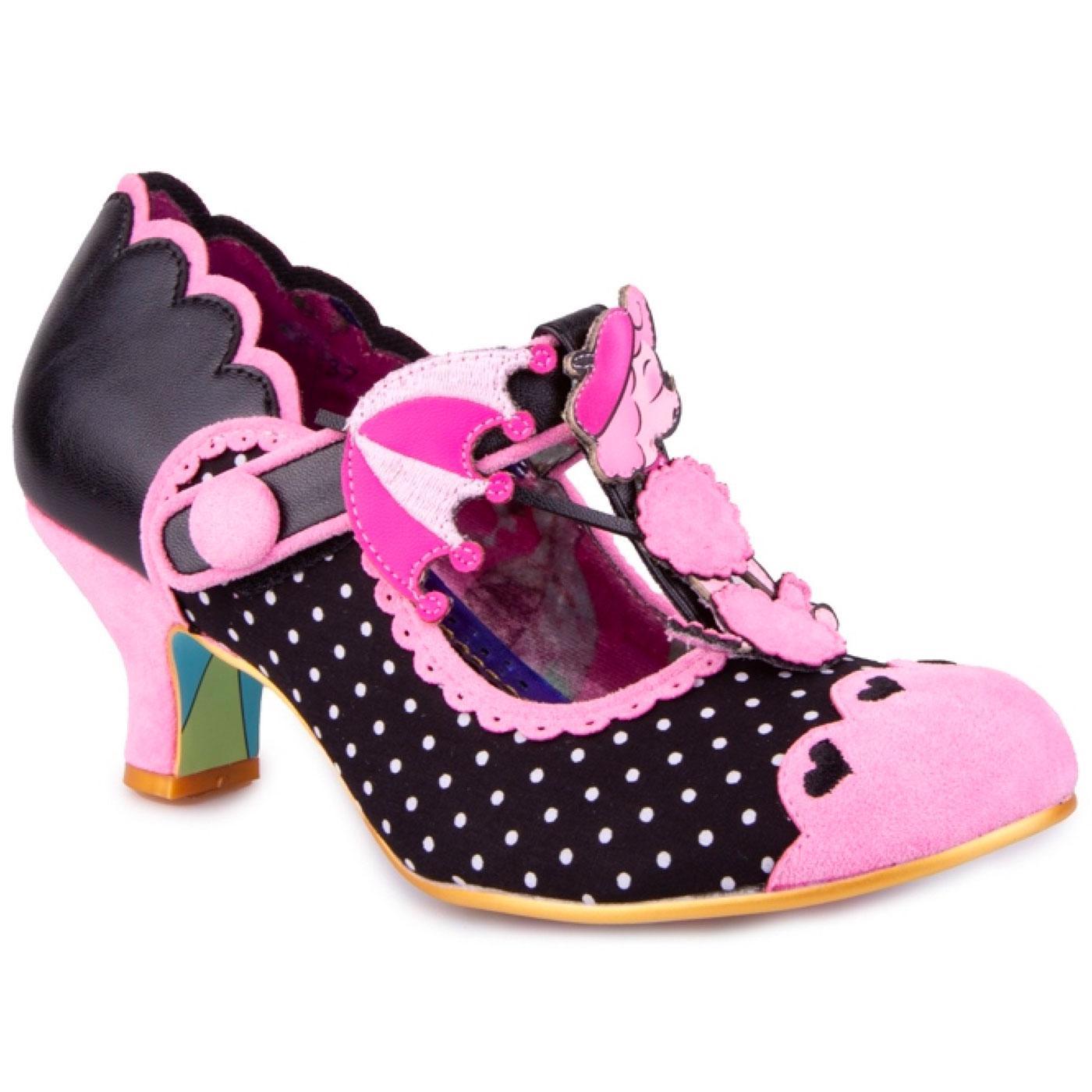 Poodle Perfect IRREGULAR CHOICE Retro T-Bar Shoes