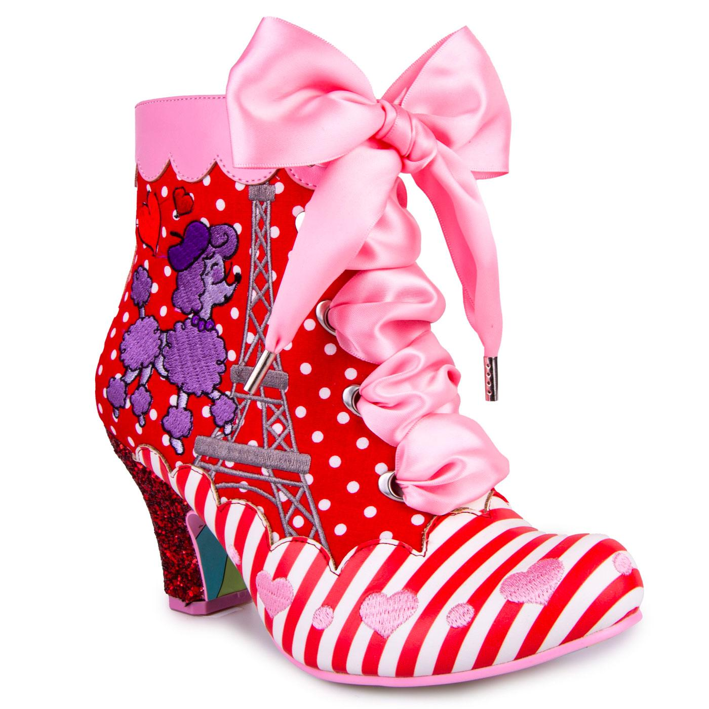 Paris For Two IRREGULAR CHOICE Poodle Heel Boots R