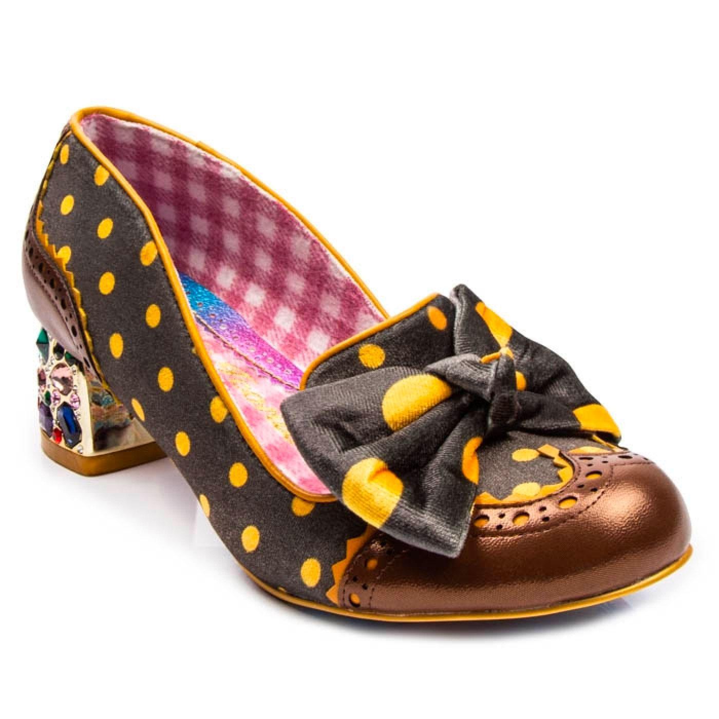 Potluck IRREGULAR CHOICE Polka Dot Retro Shoes