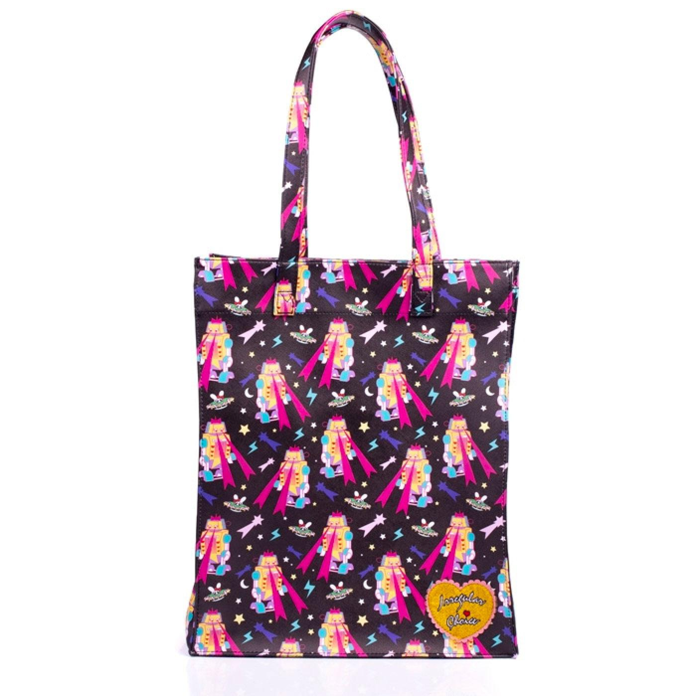 Totally IC IRREGULAR CHOICE Robots Shopper Bag