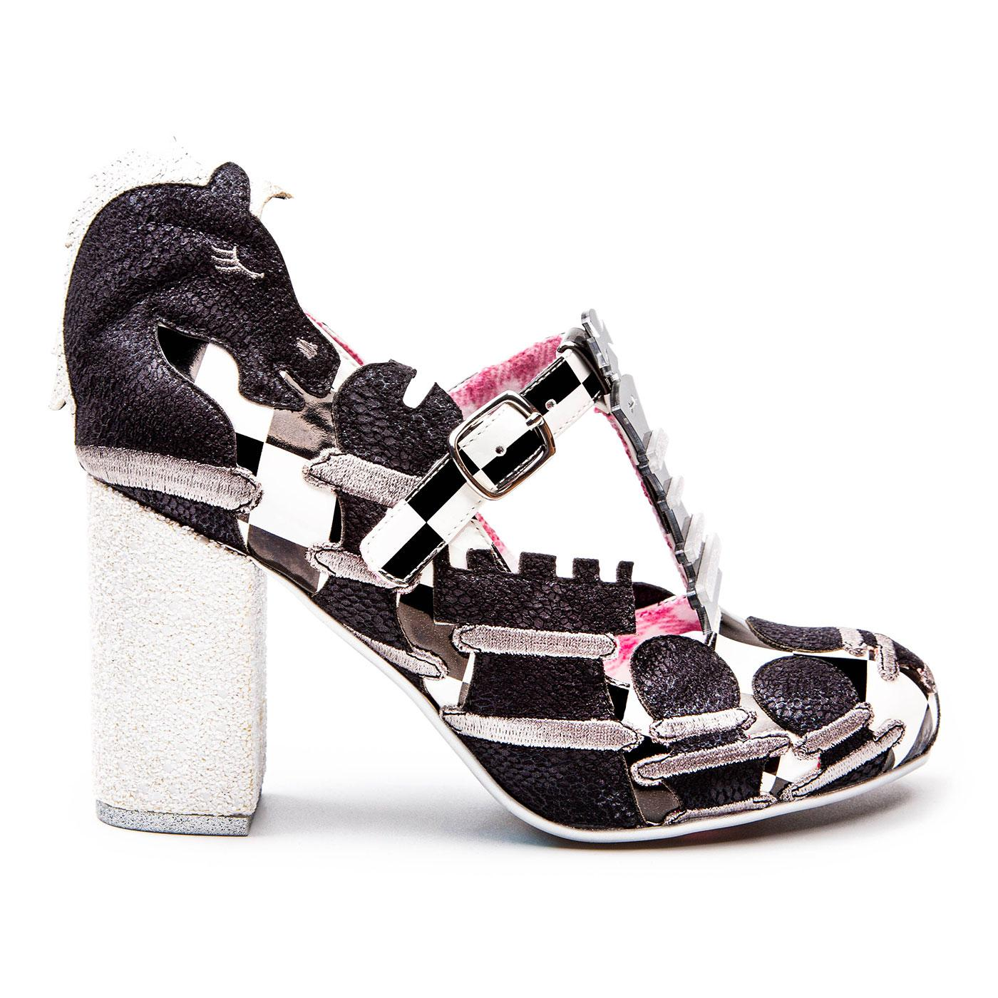 Rook N Roll IRREGULAR CHOICE Chess Board Shoes