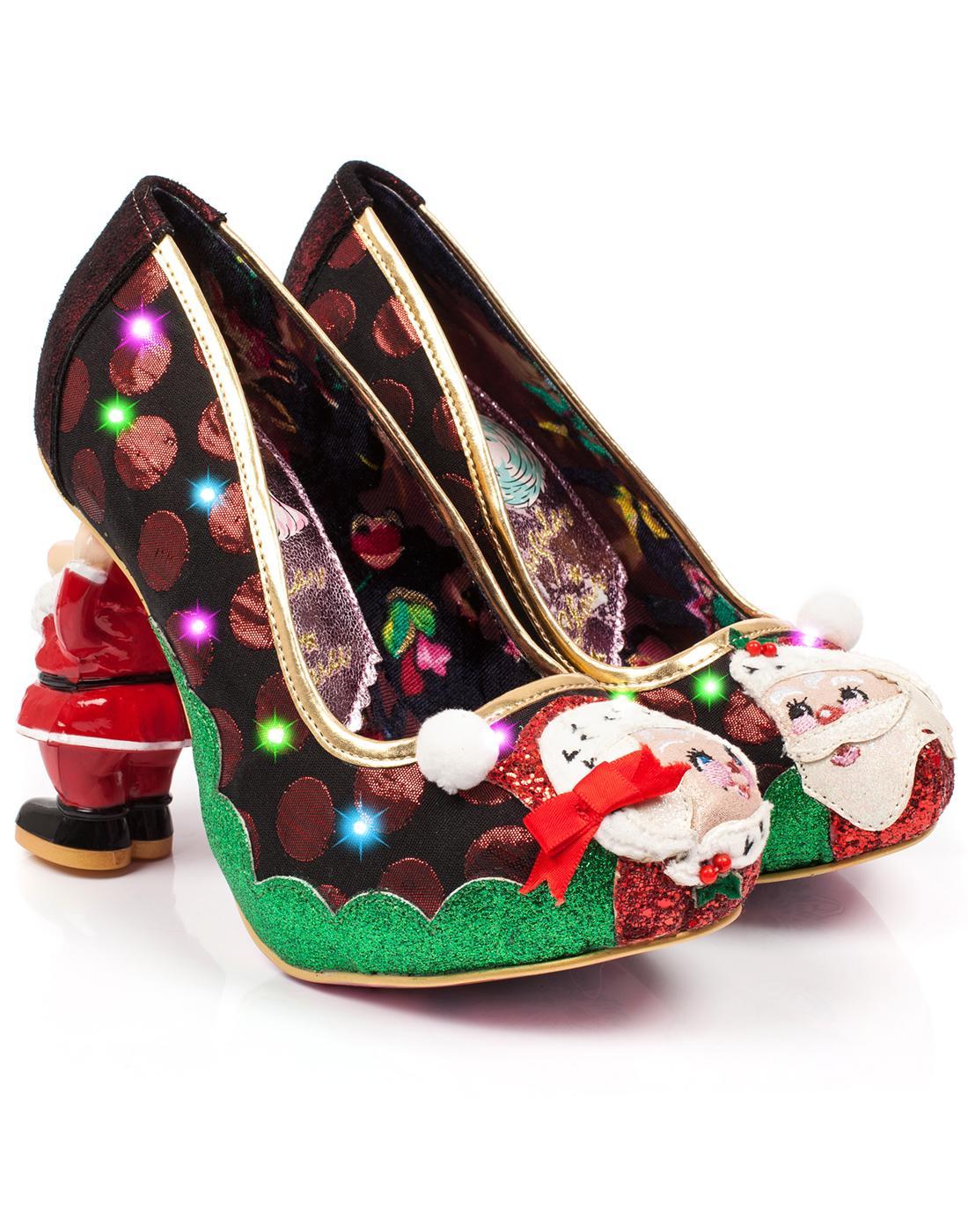 Irregular choice mr mrs claus christmas santa heel shoes