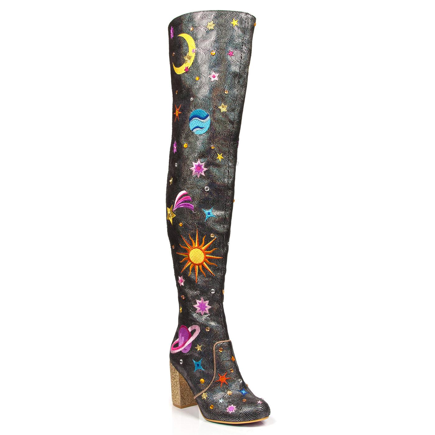Satine IRREGULAR CHOICE Thigh High Cosmic Boots