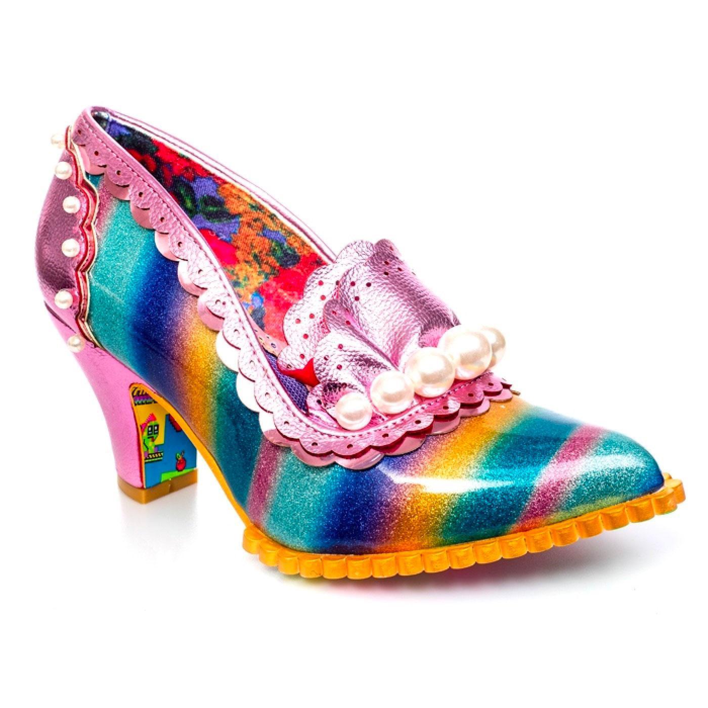 Seaside Paddle IRREGULAR CHOICE 70s Rainbow Heels