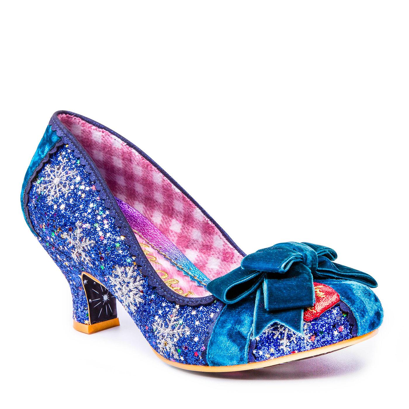 Snow Queen IRREGULAR CHOICE Blue Snowflake Heels