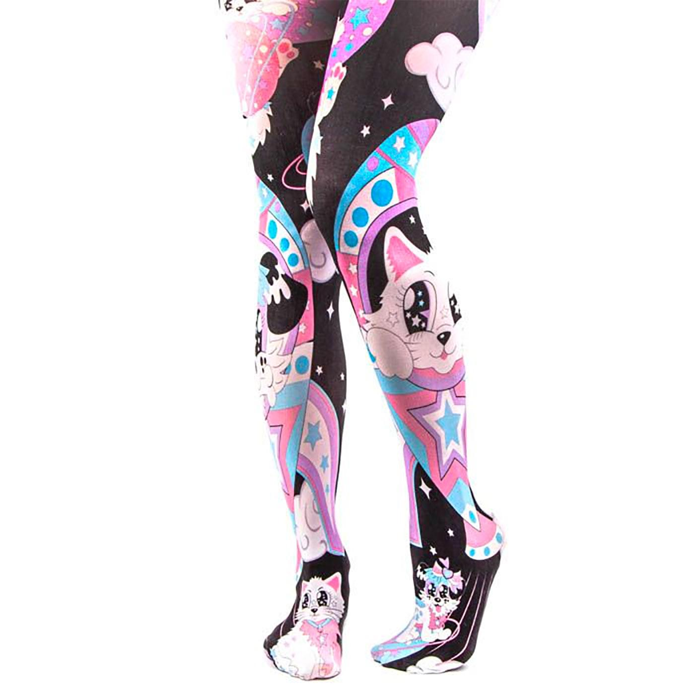 +Cosmic Cat IRREGULAR CHOICE Space Kitty Tights