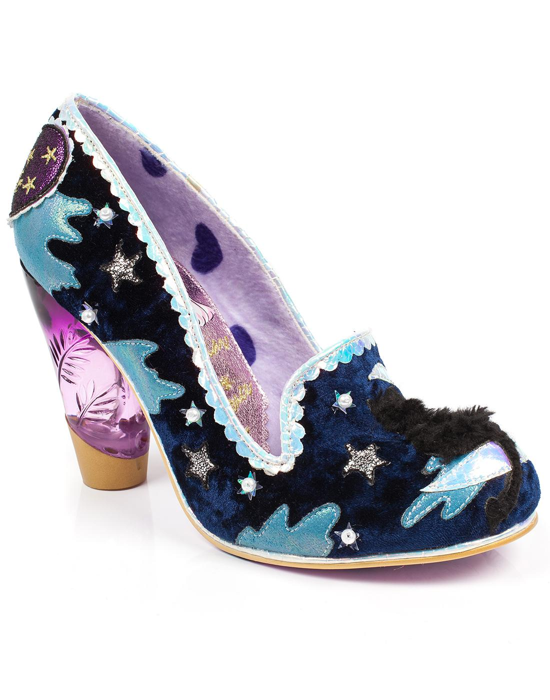Stars At Night IRREGULAR CHOICE Cat in Moon Heels