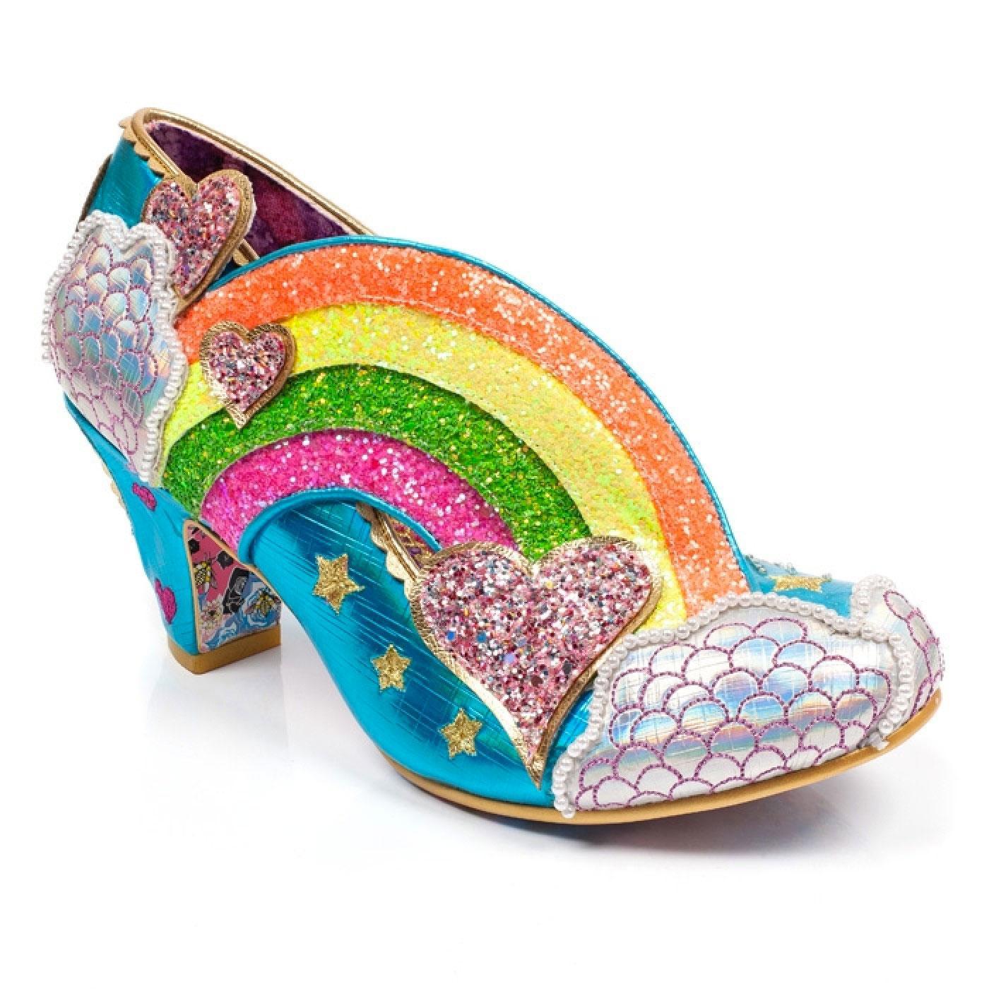 Summer Of Love IRREGULAR CHOICE Rainbow Heels B