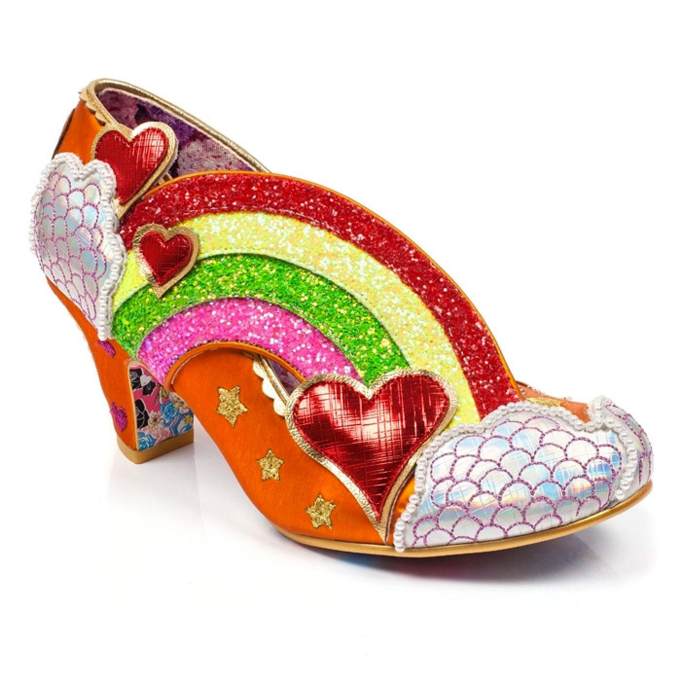 Summer Of Love IRREGULAR CHOICE Rainbow Heels O