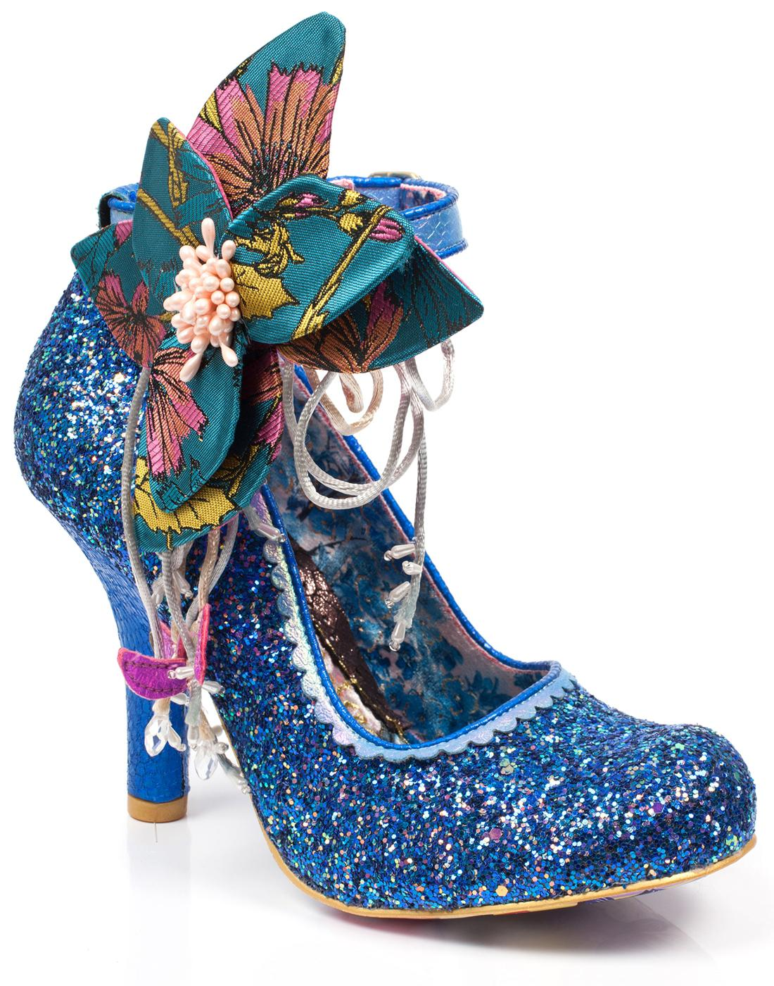 Sweet Melody IRREGULAR CHOICE Glitter Floral Heels