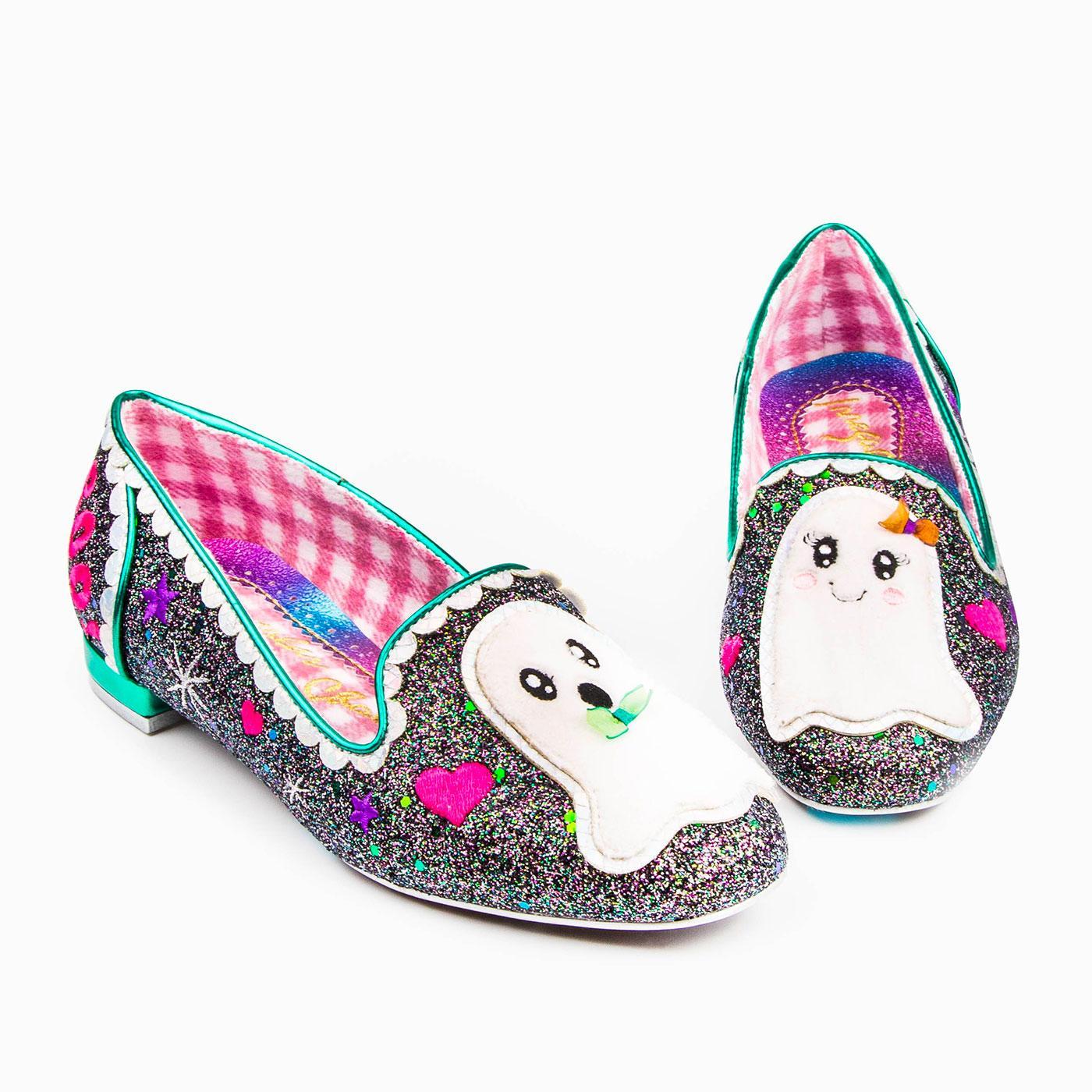 Til Death IRREGULAR CHOICE Ghost Flat Shoes
