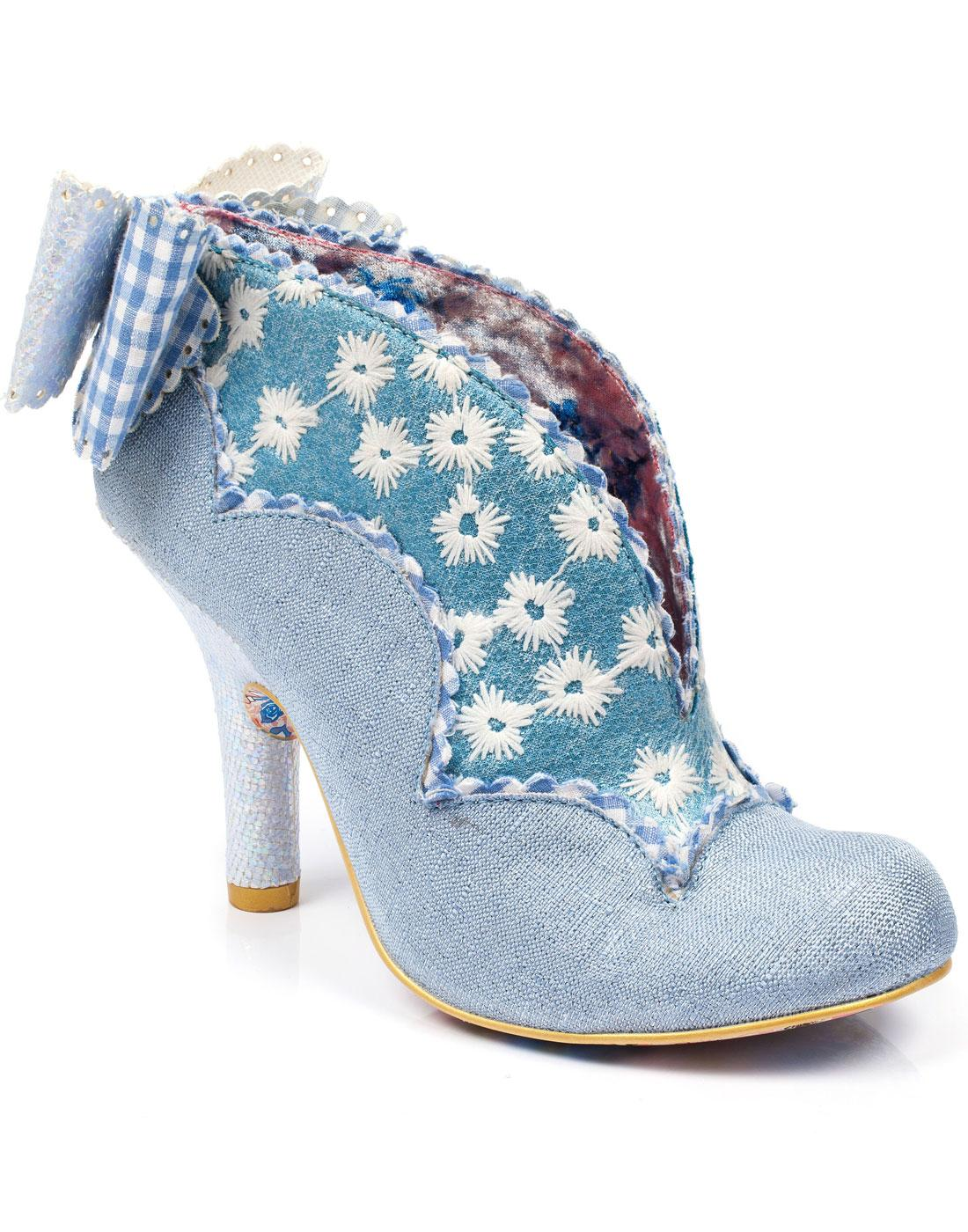 Toasted Teacake IRREGULAR Choice Floral Heels BLUE