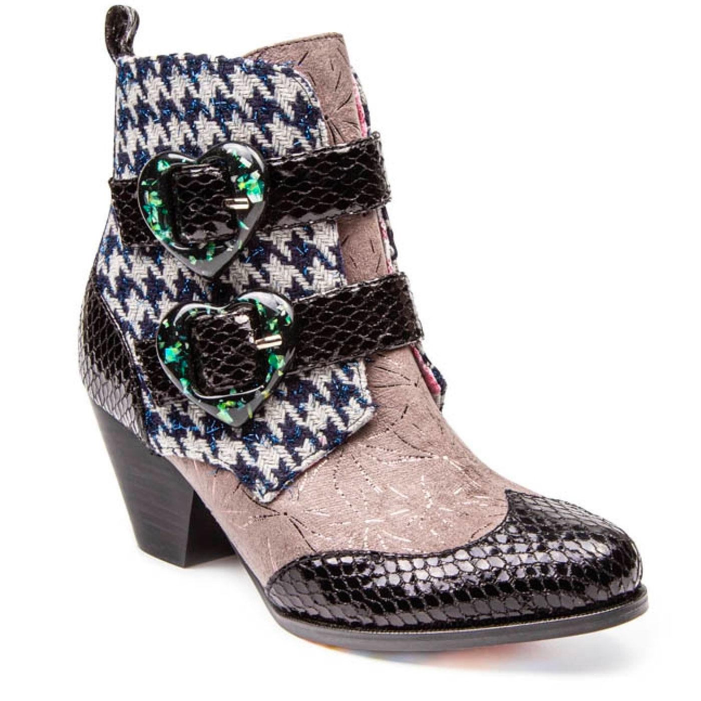 Too Hearts IRREGULAR CHOICE Mod Dogtooth Boots