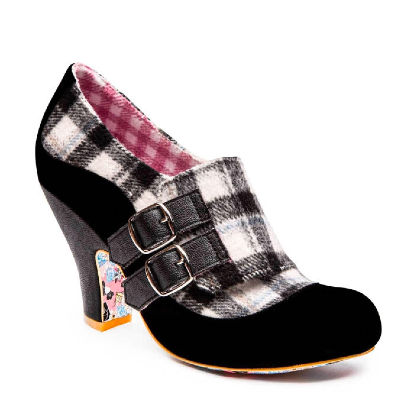 Wandas Wish IRREGULAR CHOICE Retro Check Heels