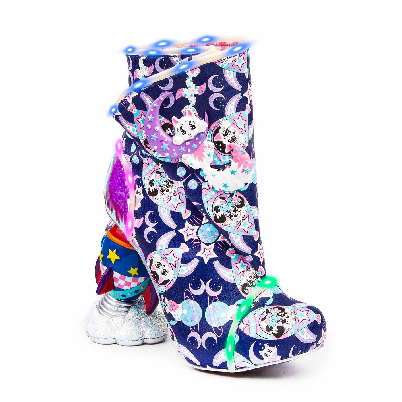 Warp Speed IRREGULAR CHOICE Rocket Heel Boots