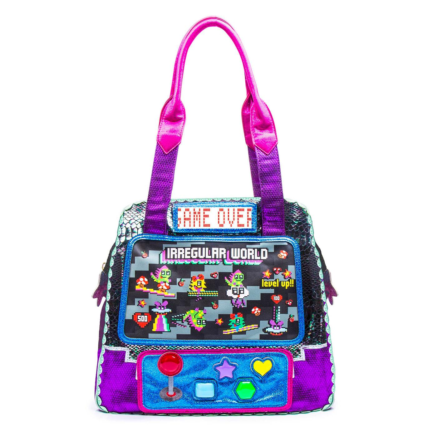 Wowcade IRREGULAR CHOICE Retro Gaming Handbag B