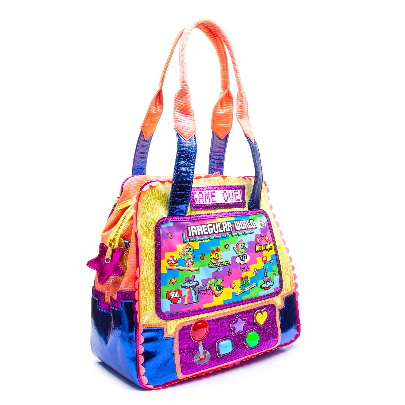 Wowcade IRREGULAR CHOICE Retro Gaming Handbag Y/B