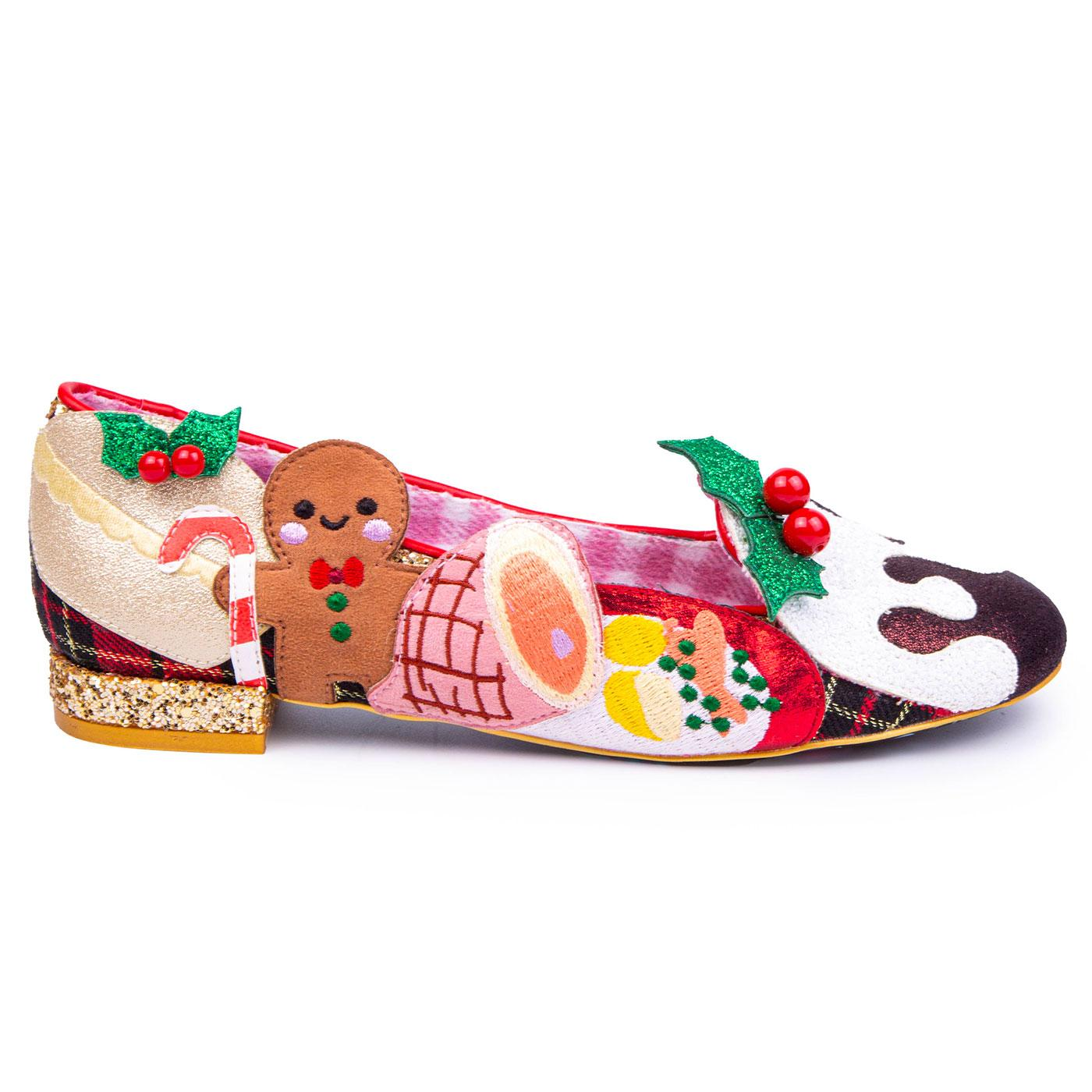 Xmas Lunch IRREGULAR CHOICE Festive Flats
