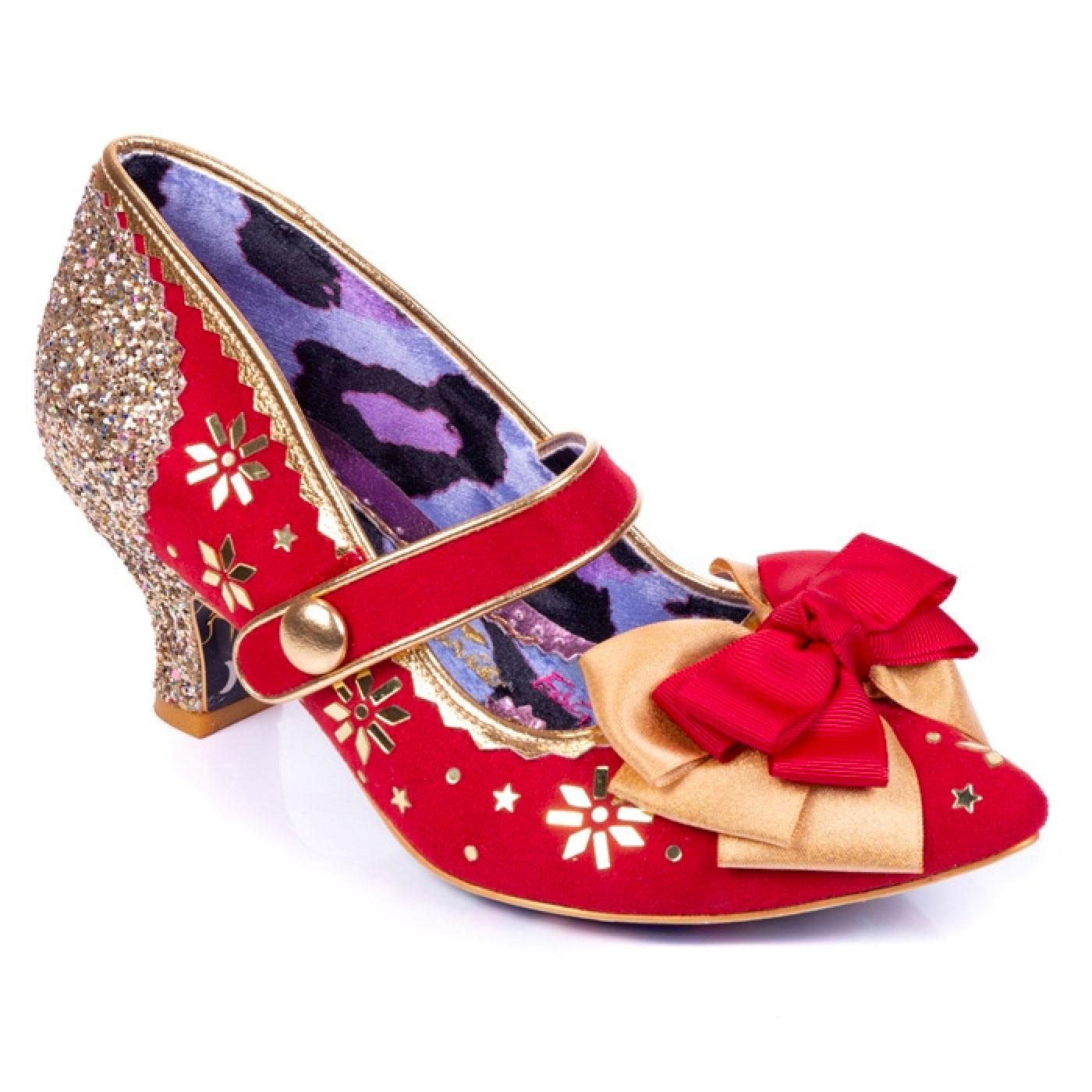 You Star IRREGULAR CHOICE Christmas Star Heels RED