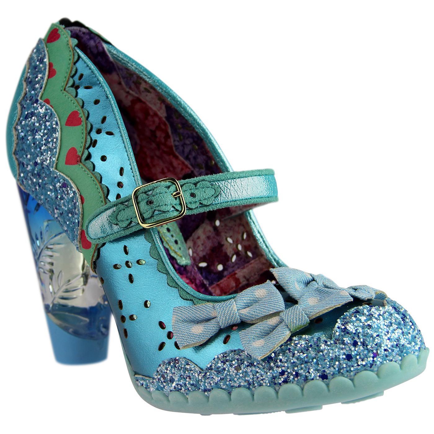 Shoependous IRREGULAR CHOICE Metallic Bow Heels Bl
