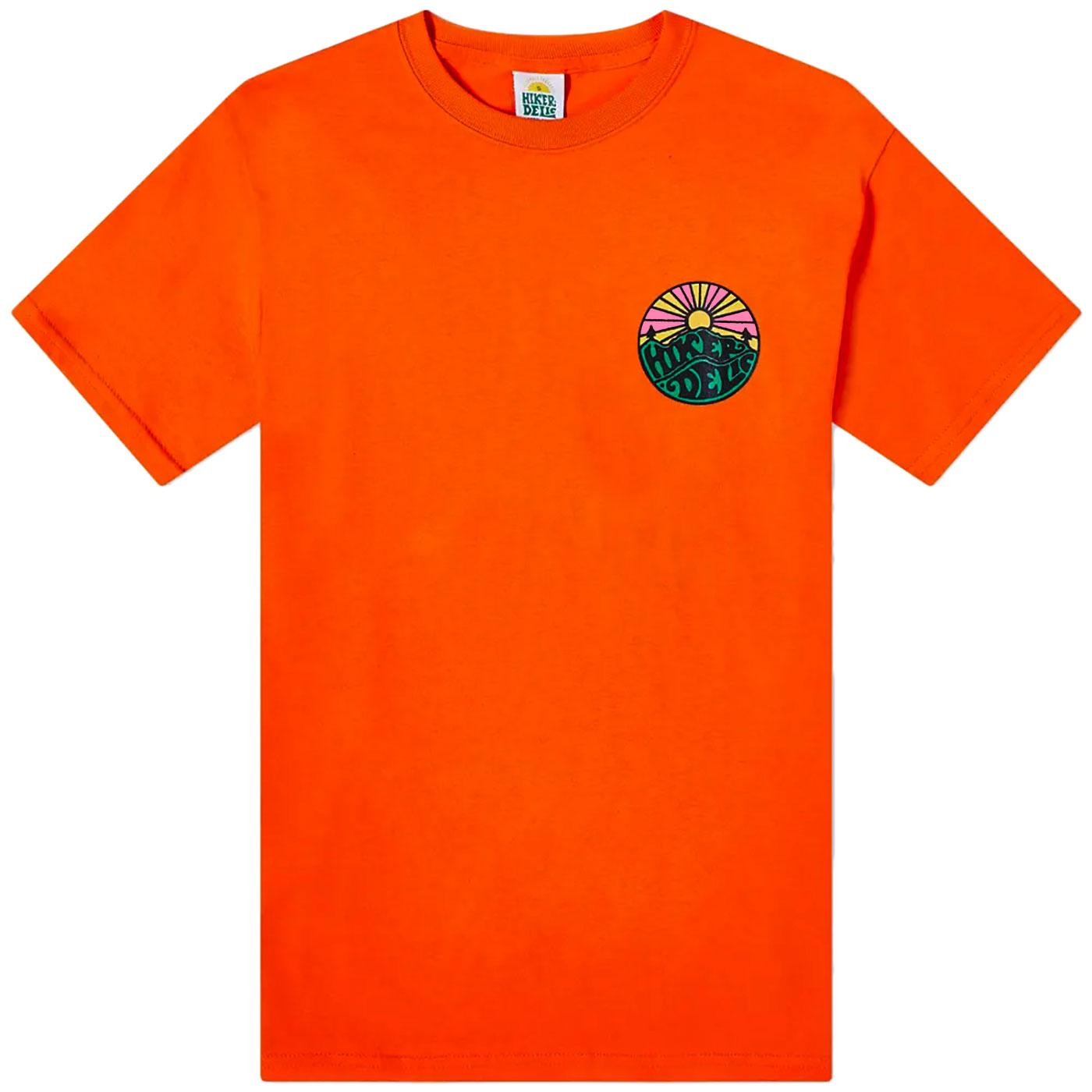 HIKERDELIC Men's Retro Original Logo Tee (Orange)