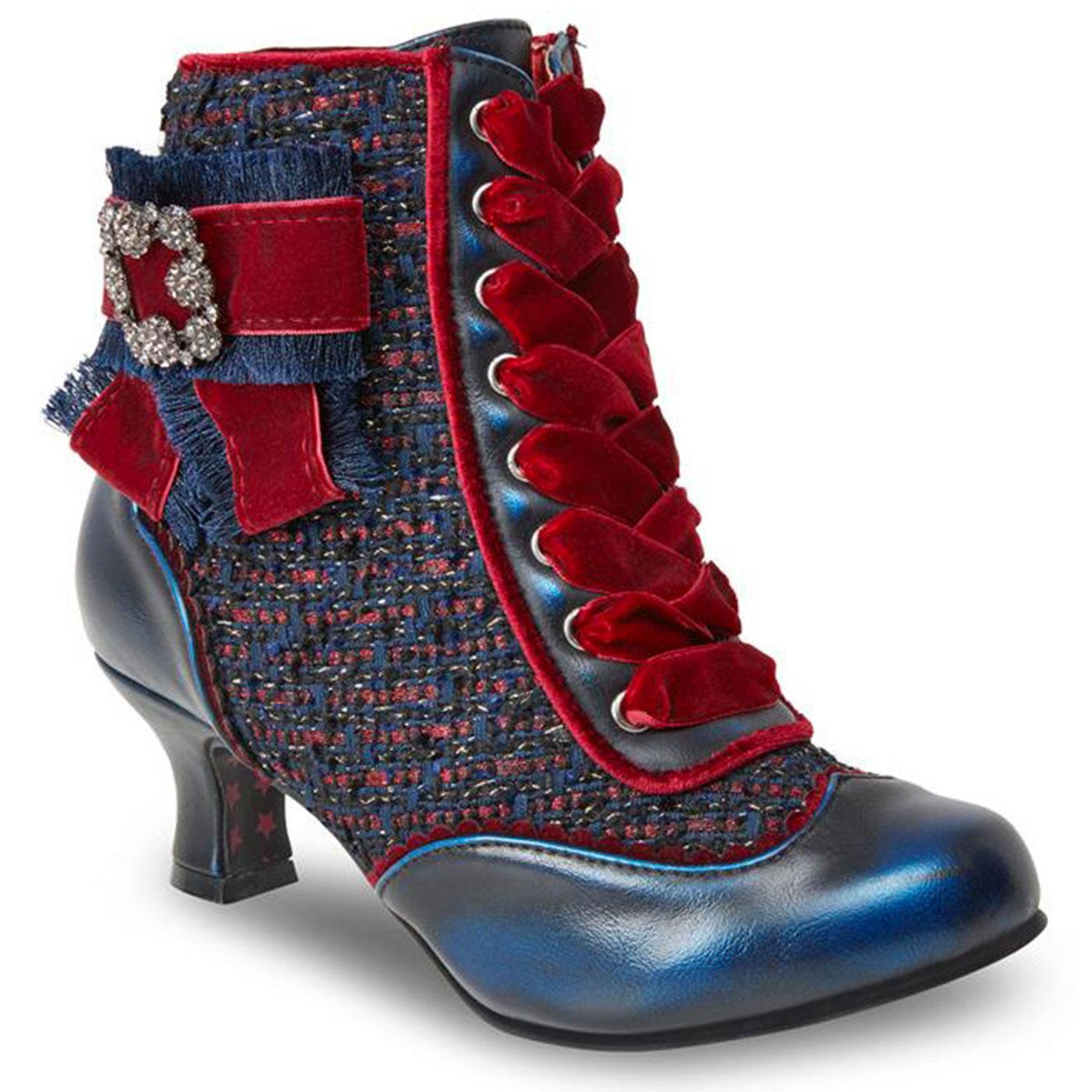 Duchess JOE BROWNS Woven Vintage Heeled Boots