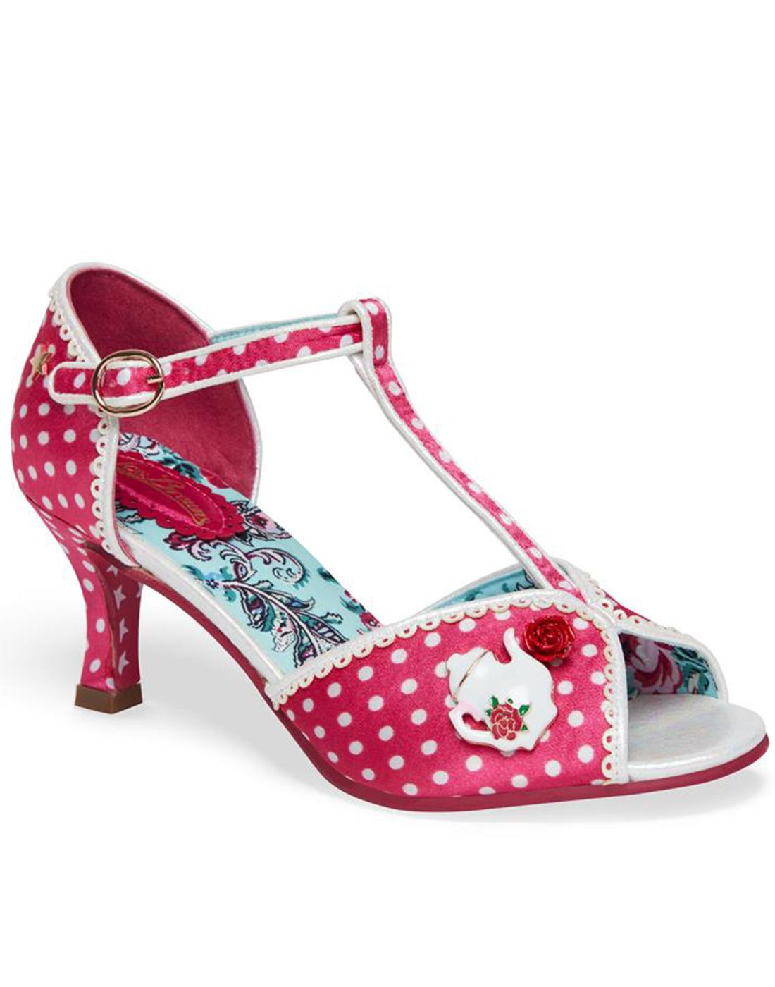 Edith JOE BROWNS Vintage Spotted Teapot Sandals