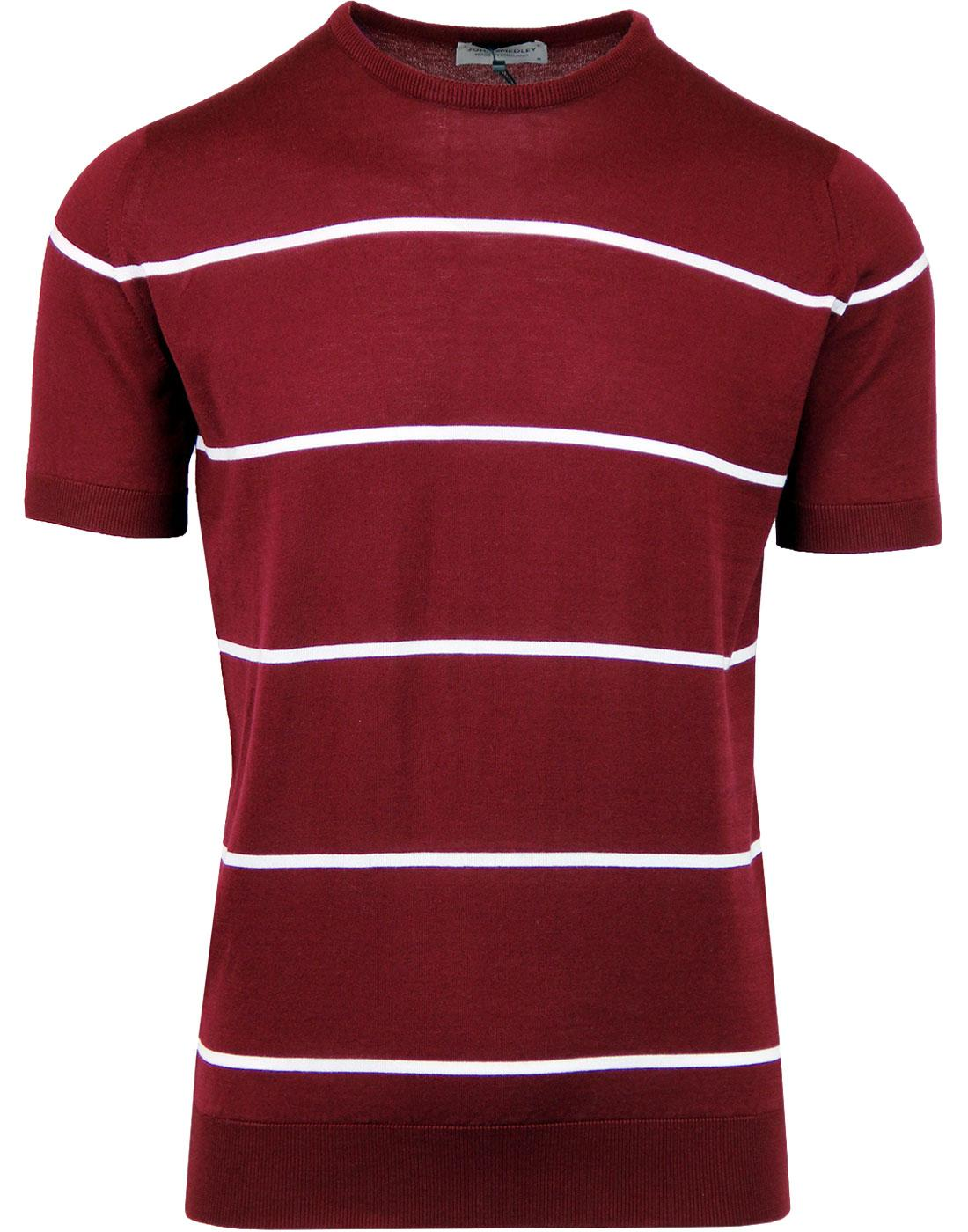 Barlby JOHN SMEDLEY  Mod Striped Knitted T-shirt