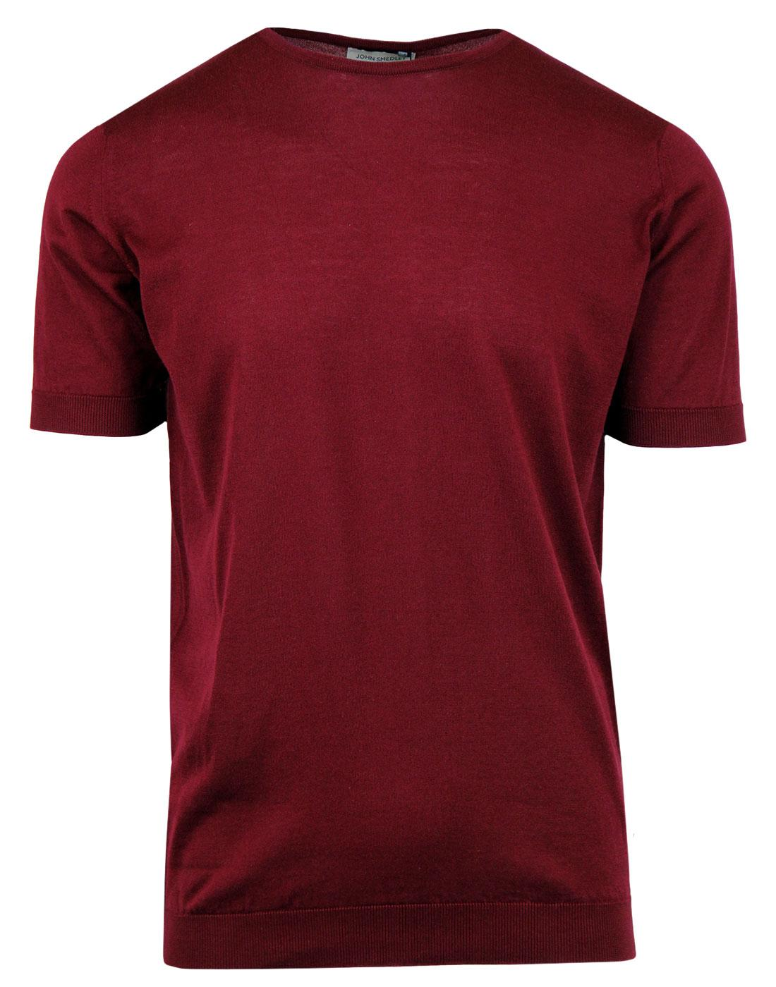 Belden JOHN SMEDLEY Made In England Tee BURGUNDY